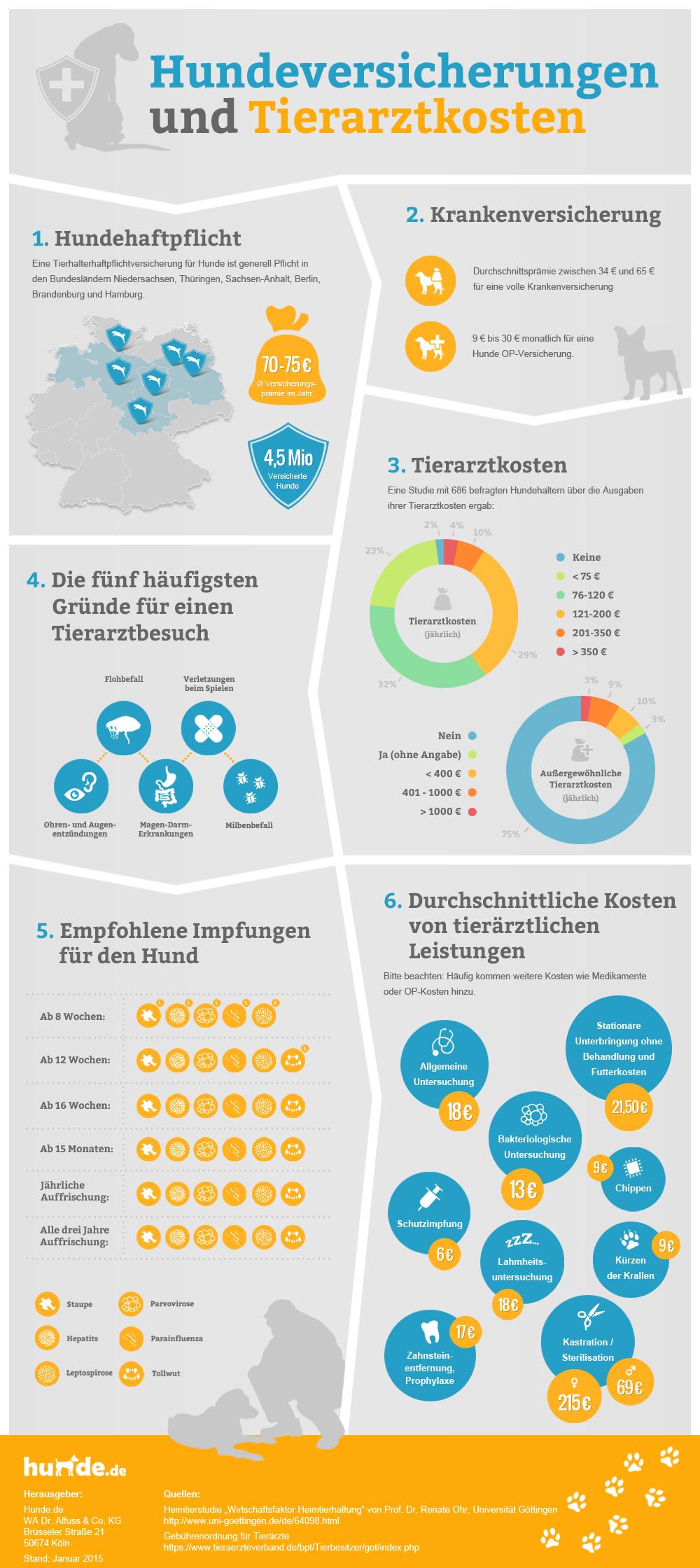 Infografik Hundeversicherungen und Tierarztkosten