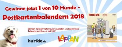 Gewinnspiel: Hunde – Postkartenkalender 2018