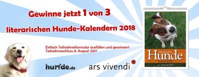 Gewinnspiel: Literarischer Hunde-Kalender 2018