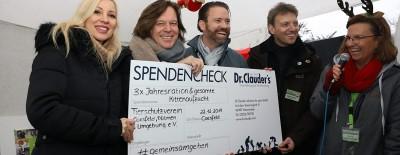 Ramona und Jürgen Drews, Malte Hübers (Dr.Clauder) und Sandra Kassenböhmer (Tierschutzverein Coesfeld, Dülmen und Umgebung e.V.)