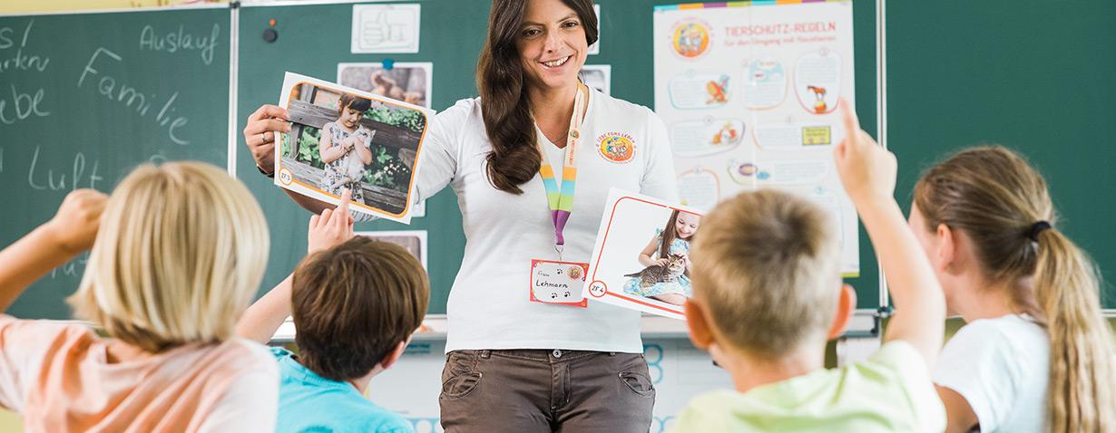 Tierschutzunterricht für Schulkinder