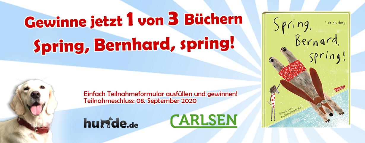 Gewinnspiel: Spring, Bernard, spring!