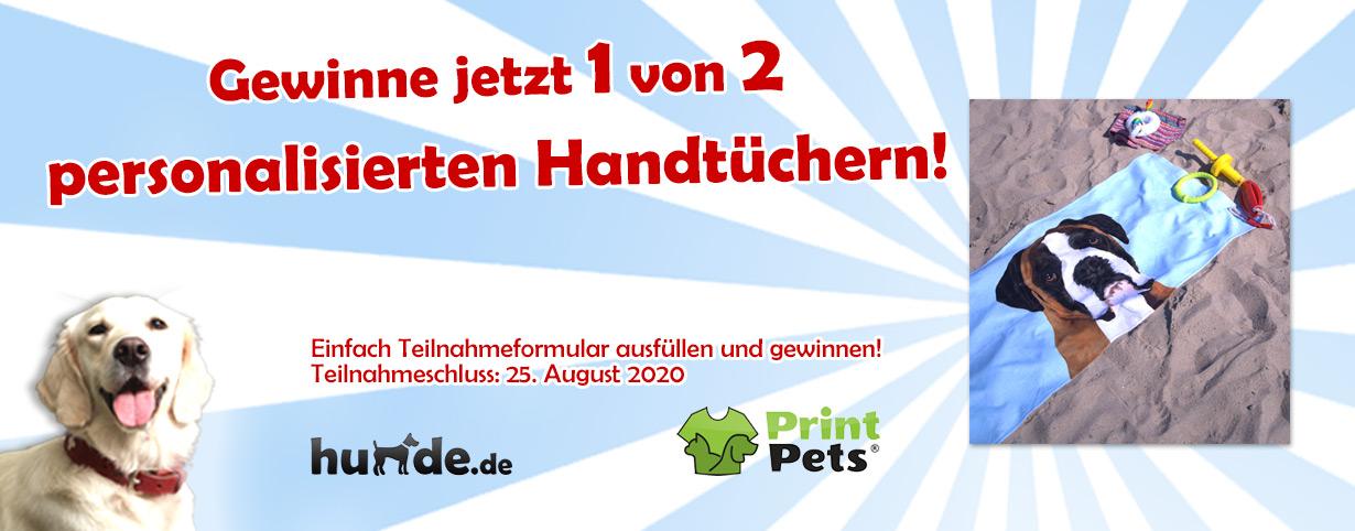Handtuch personalisiert mit deinem Haustier
