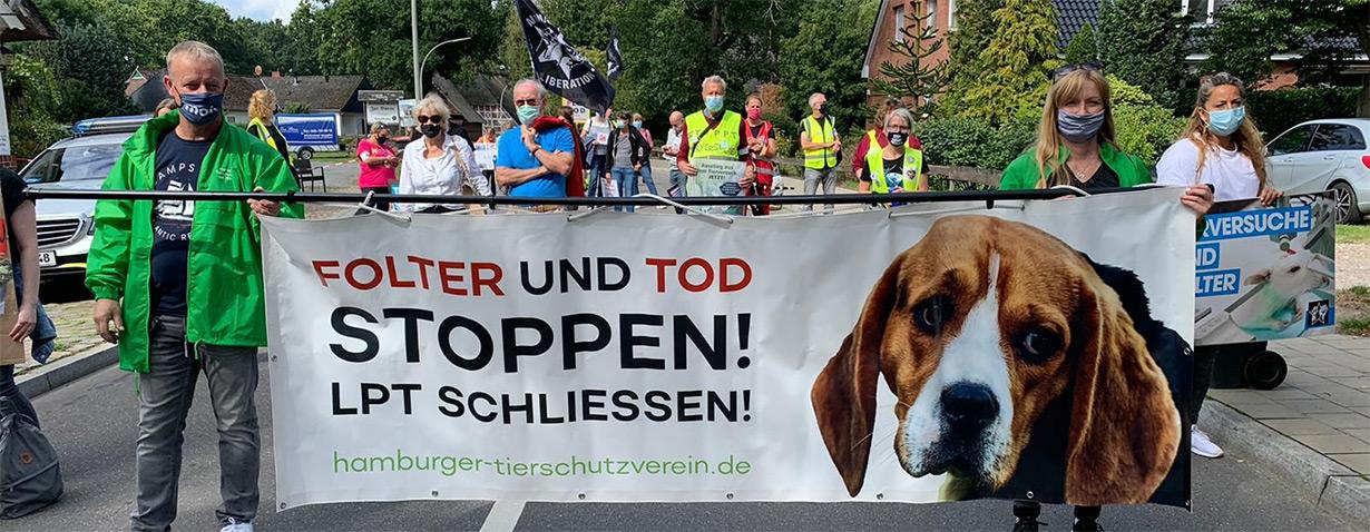 Erste große Online-Demo gegen das LPT und Tierversuche
