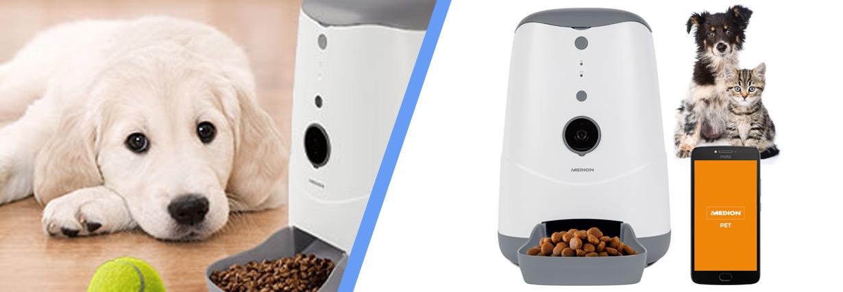MEDION stellt smarten Futterautomaten mit Steuerung per MEDION Pet App vor
